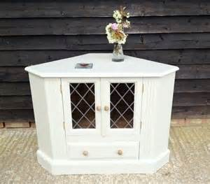 shabby chic wooden painted f b pine corner cabinet tv