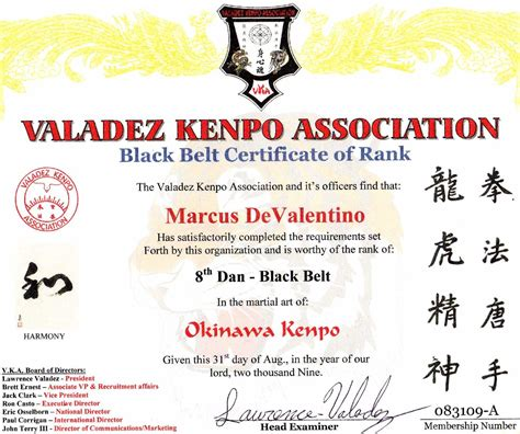 karate black belt certificate templates devalentino karate certificates