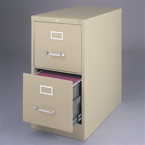 hirsh 2 drawer file cabinet features
