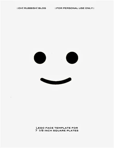image gallery lego face template