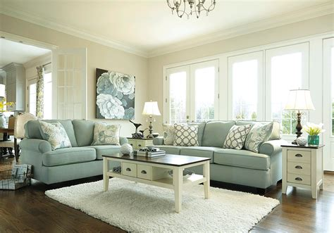 cheap modern living room ideas daystar seafoam sofa set louisville overstock warehouse