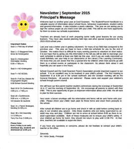 School Newsletters Templates by Sle School Newsletter Template 8 Documents