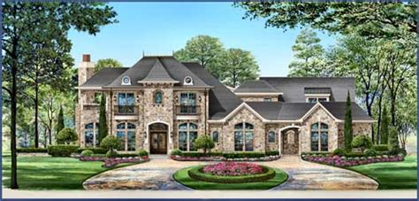 house plans with portico garage luxury style house plans 4671 square foot home 2 story 4 bedroom and 4 bath 3