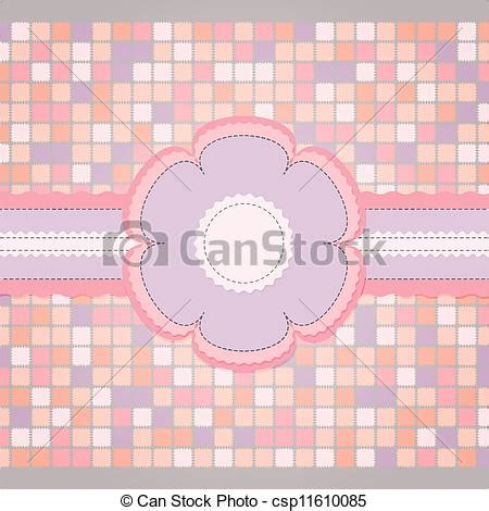 sewn greeting card templates vector of pink sewing template for greeting card pink