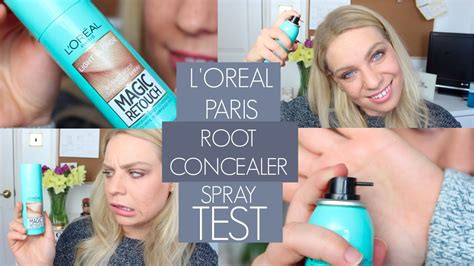 touch on l l oreal instant root concealer spray magic retouch