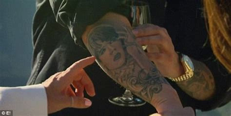 rob kardashian arm tattoos rob shows new kris jenner pics