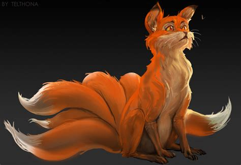 Anime 9 Tailed Fox by Fox Kurama Nine Tailed Daily Anime