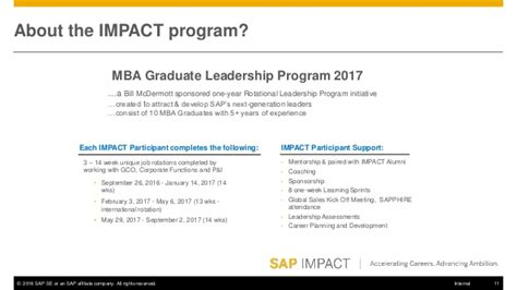 Box Mba Rotational Program by Sap Fuqua Impact Program Info Session 9 21 16