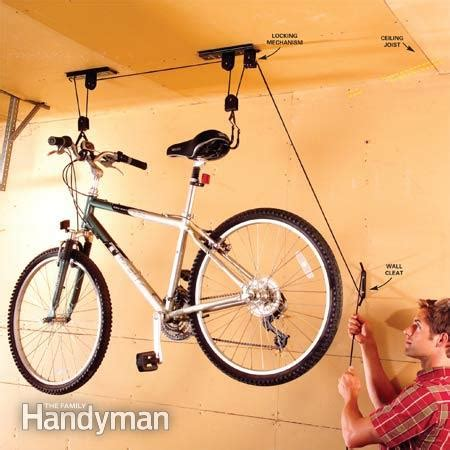 Bicycle Storage Garage Solutions by Easy Garage Storage Solutions The Family Handyman