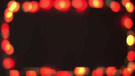 Intro Transition Border Frame With Flashing Bokeh Lights Border Lights