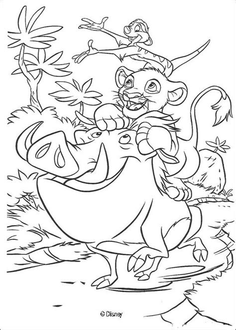 lion king timon and pumbaa coloring pages simba timon and pumbaa play coloring pages hellokids com