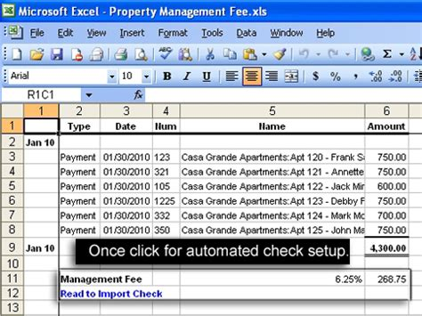 Using Excel To Do Calculations And Create Quickbooks Entries Allbusiness Com Quickbooks Property Management Template