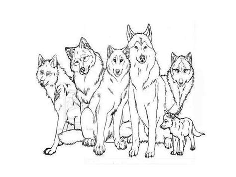 coloring pages of wolf packs wolf pack coloring pages coloring home