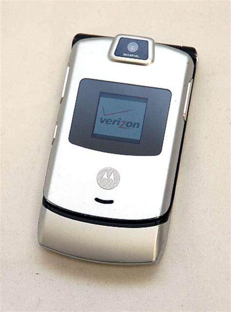 ebay razer phone motorola razr v3m v3 verizon cell phone razor silver razer