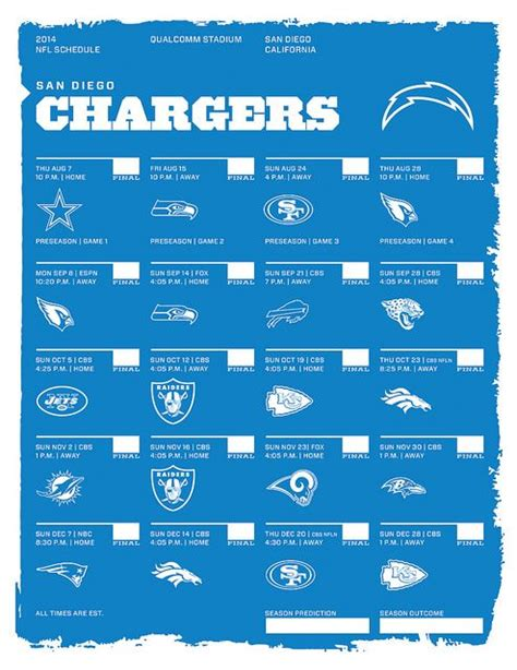 chargers vs seattle 2014 1000 ideas about nfl schedule 2014 on raiders