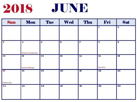 printable holiday planner 2018 free printable june 2018 calendar latest calendar