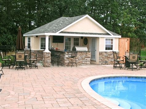 outdoor pool ideas outdoor kitchen and pool backyard designs image with pool