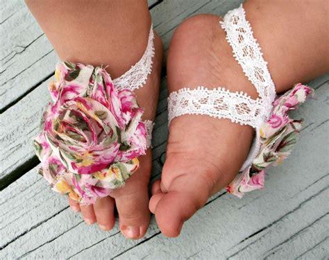 newborn barefoot sandals baby barefoot sandals floral print newborn barefoot