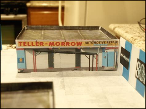 Papercraft Cafe - paper model of sons of anarchy clubhouse view 2 soa