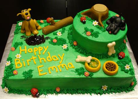 puppy theme fondant themed cake ideas and designs