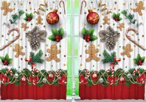 Gingerbread Kitchen Curtains Gingerbread Kitchen Curtain Panel Set Home Decor Ebay