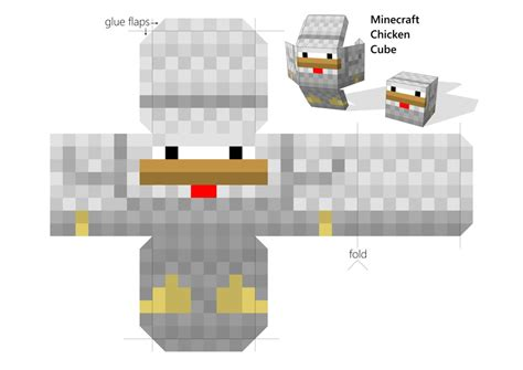 Minecraft Papercraft Chicken - chicken cube papercraft by lockrikard on deviantart