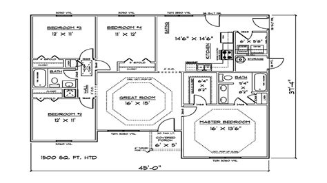 house plans 1500 square feet 1500 sq ft 4 bedroom house plans open concept house plans
