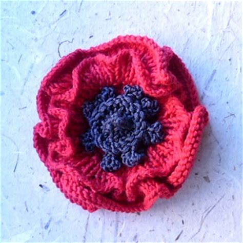 how to knit a poppy flower ravelry remembrance poppy to knit pattern by katy sparrow