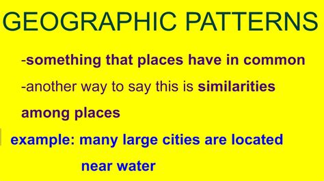 Pattern Definition Geography | daily class activities mr haack s 7th grade geography
