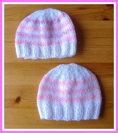 baby hat measurements knit marianna s lazy days simple stripes baby hat