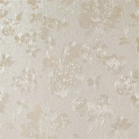 Graham & Brown Cream Shimmer Floral Silk Wallpaper 32 892 The Home Depot