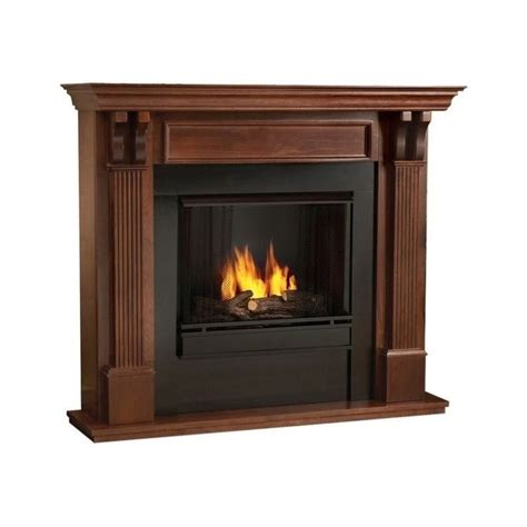 Mahogany Fireplace by Real Gel Fuel Fireplace In Mahogany Finish