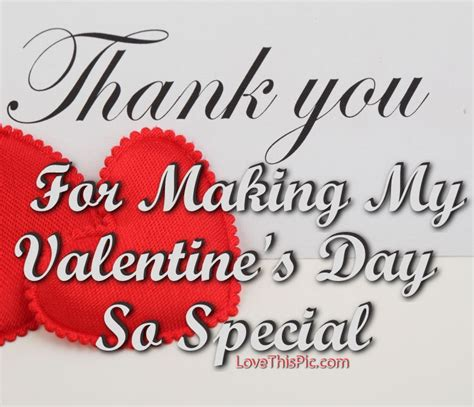 valentines thank you quotes thank you for my s day so special