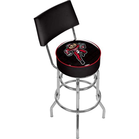 home decorators collection 30 in red cushioned swivel bar home decorators collection sandra 30 in brushed aluminum