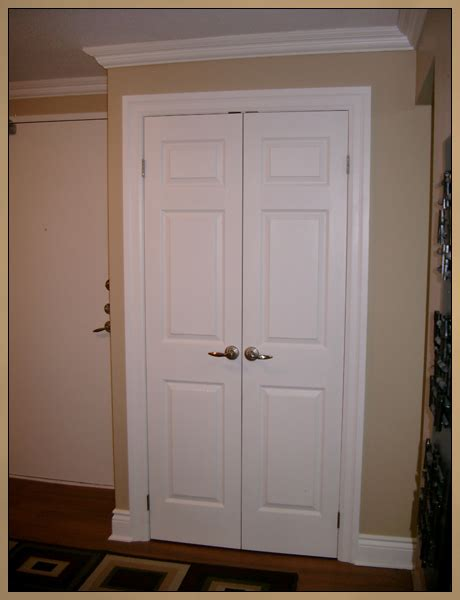 New Closet Doors Interior Door Installation Custom Trim Minor Drywall Repair