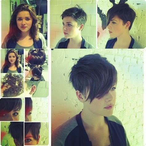 pixie hairstyles before and after before and after long hair to pixie good hair pinterest