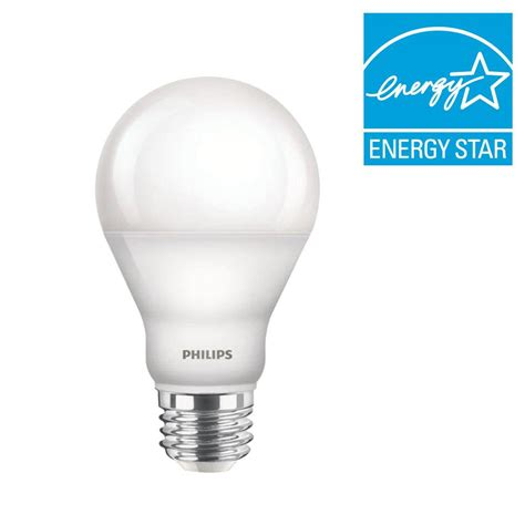 Led Light Bulbs Daylight Philips 60w Equivalent Daylight 5000k A19 Dimmable Led Light Bulb 455873 The Home Depot