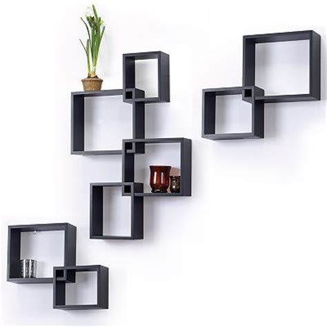 8 pc interlocking cube wall shelf set trophy display