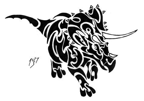 tribal dinosaur tattoo tribal series 96 by sakashima on deviantart