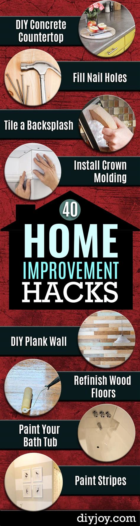house hacks 41 clever home improvement hacks diy joy