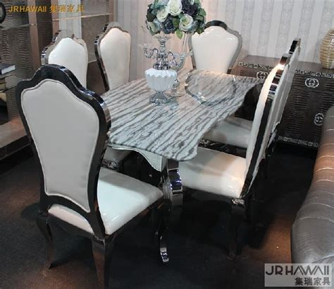 glass top esszimmer sets stainless steel dinning table with dining room set with 6