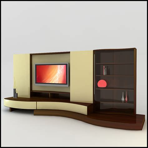 tv wall units tv wall unit modern design x 17 3d models cgtrader com