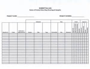 Material Submittal Template by Submittal Log Form 5 99 Now