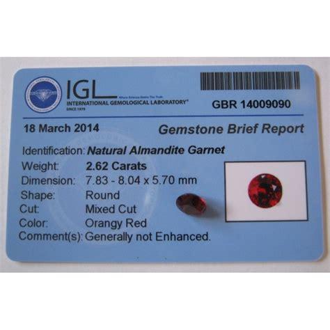 Batu Garnet Memo batu permata garnet cut 2 62 carat memo keaslian