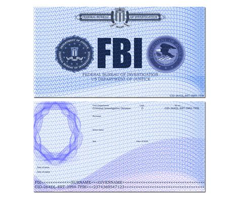 fbi id card template best photos of id template driver