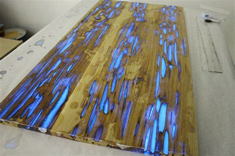 glow in the paint on wood how to make a stunning wooden table with glow in the