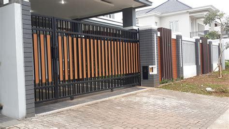 Pagar Rumah Minimalis 3 70 desain pagar rumah minimalis kayu dan besi pekanbaru interior