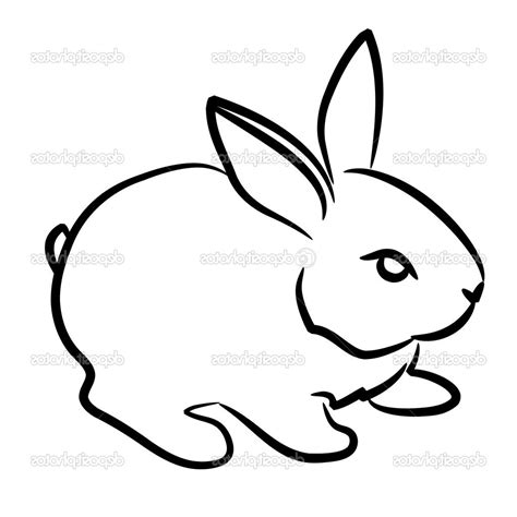 rabbit simple easy rabbit drawing papel lenguasalacarta co