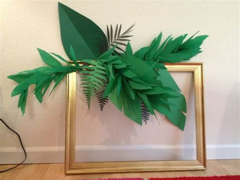 How To Make Paper Leaves For Flowers - crepe paper leaf garland how to s