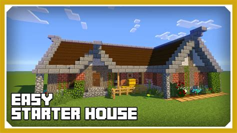 minecraft cool house tutorial minecraft how to build a cool starter house tutorial easy survival minecraft house